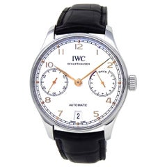 IWC Portuguese IW500704, Silver Dial, Certified and Warranty