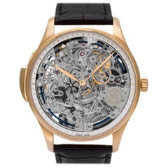 IWC Portuguese IW524101 18 Karat Rose Gold Skeleton Dial Manual Watch
