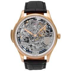 IWC Portuguese IW524101 18k Rose Gold Skeleton Dial Manual Watch