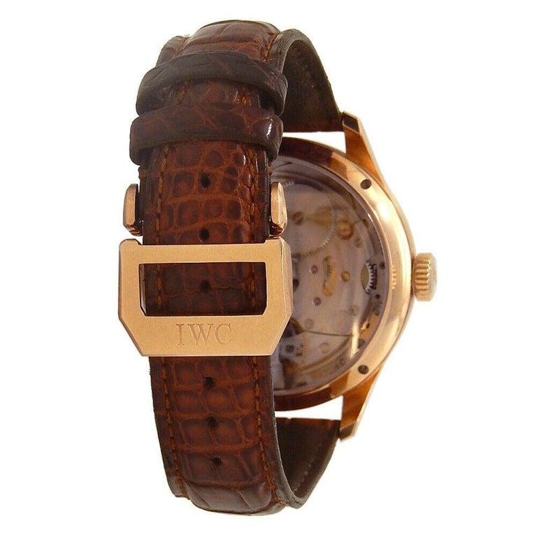 IWC Portuguese Perpetual Calendar 18k Rose Gold Automatic Men's Watch IW502103 For Sale 1