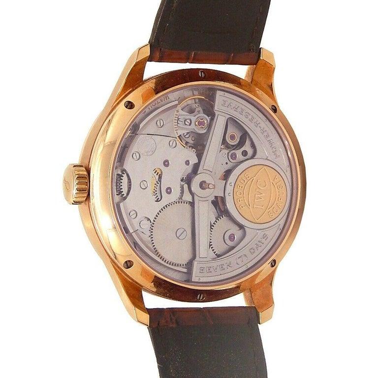 IWC Portuguese Perpetual Calendar 18k Rose Gold Automatic Men's Watch IW502103 For Sale 2