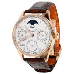 IWC Portuguese Perpetual Calendar Moonphase IW502306 Men's Watch 18 Karat Gold