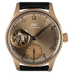 IWC Portuguese Tourbillon Metropolitan Boutique Edition 18 Karat Gold Olive Dial