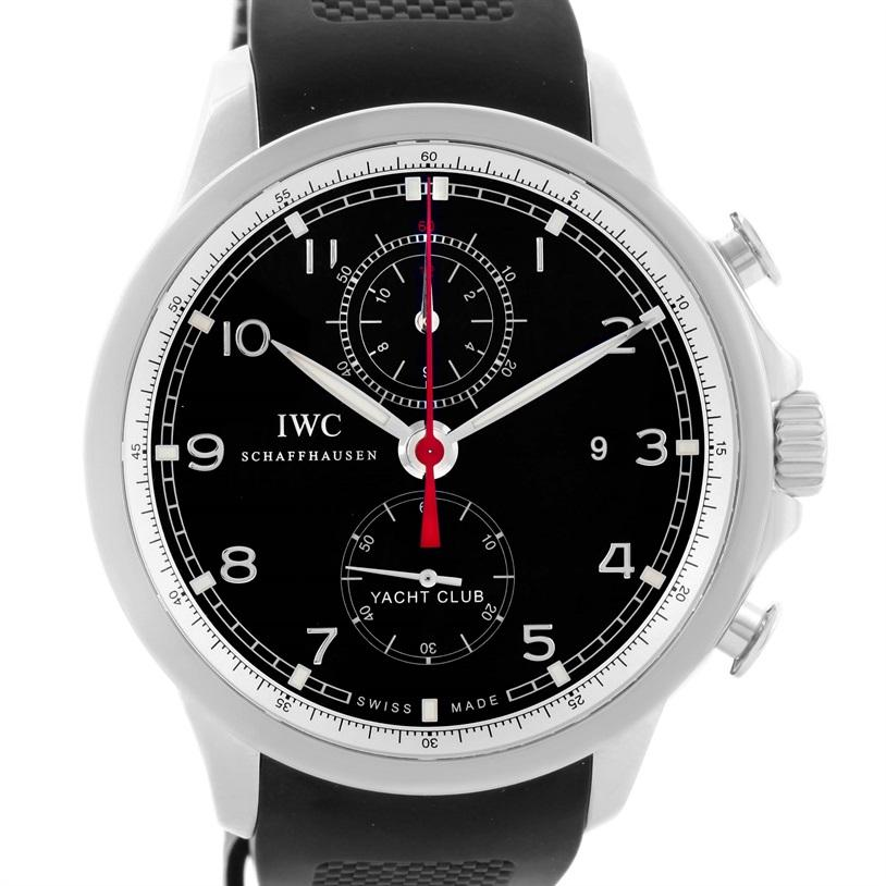 IWC Portuguese Yacht Club Chronograph Rubber Strap Men's Watch IW390210