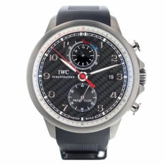 IWC Portuguese Yacht Club Chronograph Titanium Men's Black Carbon Watch IW390212