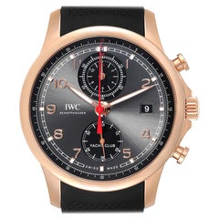 IWC Portuguese Yacht Club Rose Gold Chronograph Watch IW390209 Box Papers
