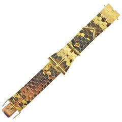 IWC Retro Gold Buckle Honeycomb Bracelet Watch