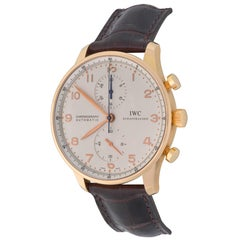 IWC Rose Gold Portuguese Automatic Wristwatch Ref 3714-002