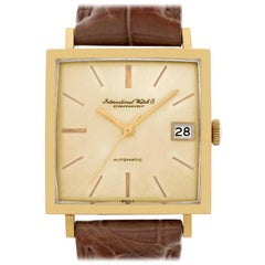 IWC Schaffhausen 1721865, Gold Dial, Certified and Warranty