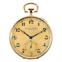 IWC Schaffhausen 18 Karat Gold Pocket Watch