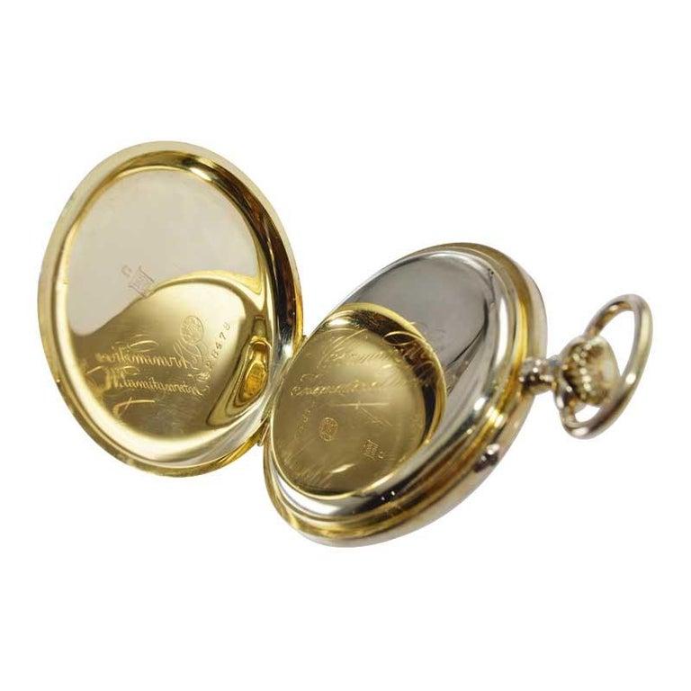 I.W.C. Schaffhausen 18Kt. Yellow Gold Open Faced Pocket Watch, Circa 1910 For Sale 1