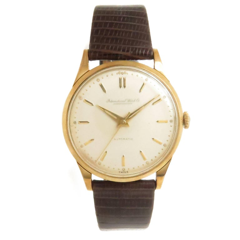 6f5d627042f IWC Schaffhausen Gold Plate Stainless Steel Automatic Wristwatch ...