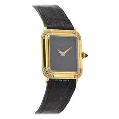 IWC Schaffhausen Pave Diamond Gold Wristwatch on Alligator Band Unisex