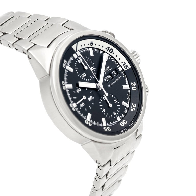 IWC Stainless Steel Aquatimer Chronograph Automatic Wristwatch In Good Condition For Sale In Stamford, CT