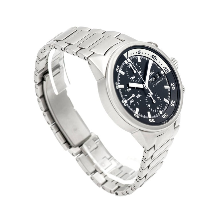 Women's or Men's IWC Stainless Steel Aquatimer Chronograph Automatic Wristwatch For Sale