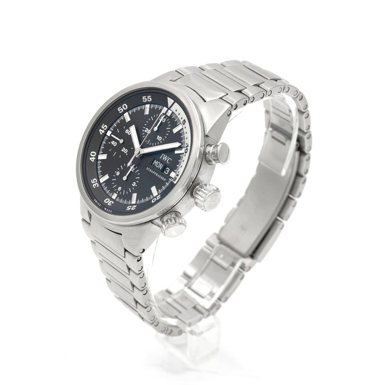 IWC Stainless Steel Aquatimer Chronograph Automatic Wristwatch For Sale 1