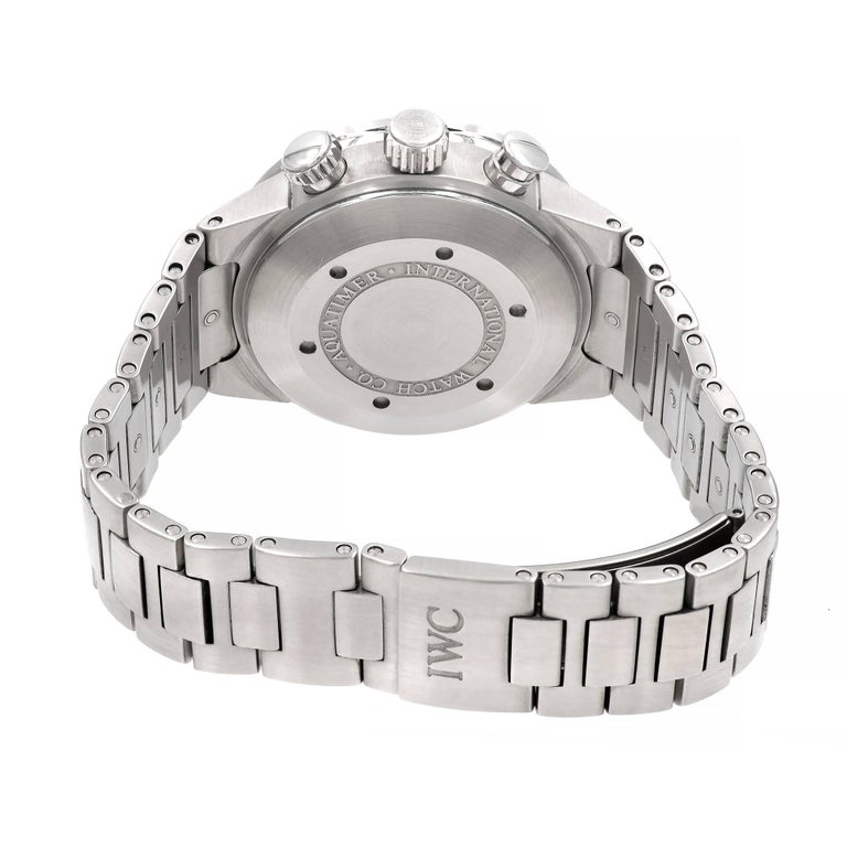 IWC Stainless Steel Aquatimer Chronograph Automatic Wristwatch For Sale 2