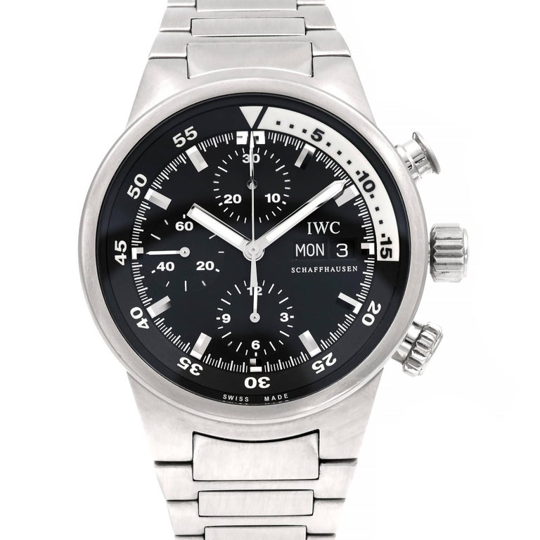 IWC Stainless Steel Aquatimer Chronograph Automatic Wristwatch For Sale