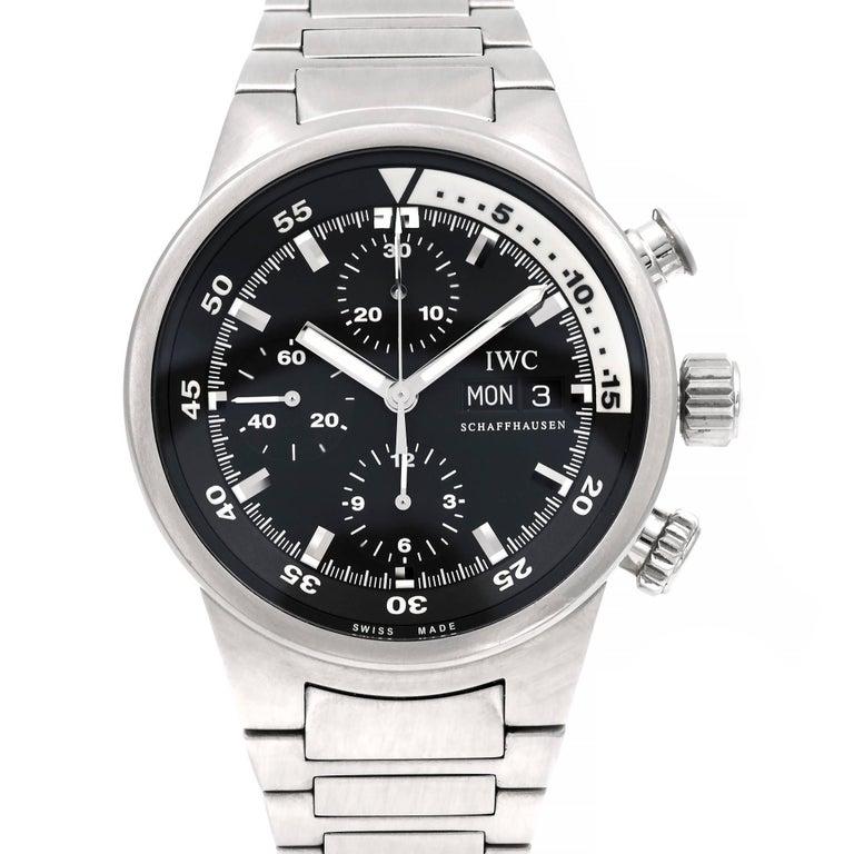 IWC Stainless Steel Aquatimer Chronograph Automatic Wristwatch