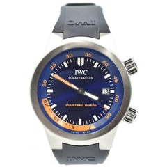 IWC Stainless Steel Aquatimer Cousteau Diving Automatic Wristwatch Ref 3548