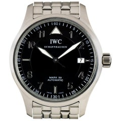 IWC Stainless Steel Black Dial Pilots XV Automatic Wristwatch Ref IW325307