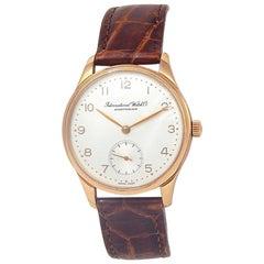 IWC Vintage 18 Karat Rose Gold Automatic Men's Watch