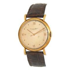 IWC Vintage 18 Karat Yellow Gold Hand-Winding Men's Watch