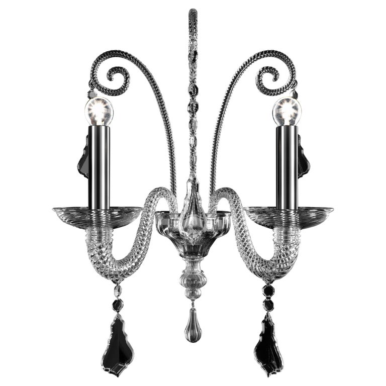 For Sale: Clear (Crysral_CC) Izmir 5555 02 Wall Sconce in Glass, by Barovier&Toso