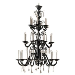 Izmir 5555 24 Chandelier in Glass, by Barovier & Toso