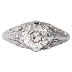 J. Birnbach 1.25 Carat Old European Cut Diamond Antique Ring