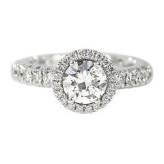 J. Birnbach 18 Karat Gold 1.01 Carat Brilliant Round Diamond Expandable Ring
