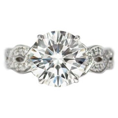 J. Birnbach 4.01 Carat J VS2 Brilliant Round Diamond Ring