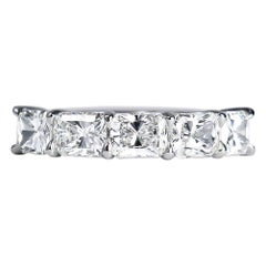 J. Birnbach East-West 2.53 Carat Total Weight Radiant Cut Diamond Ring