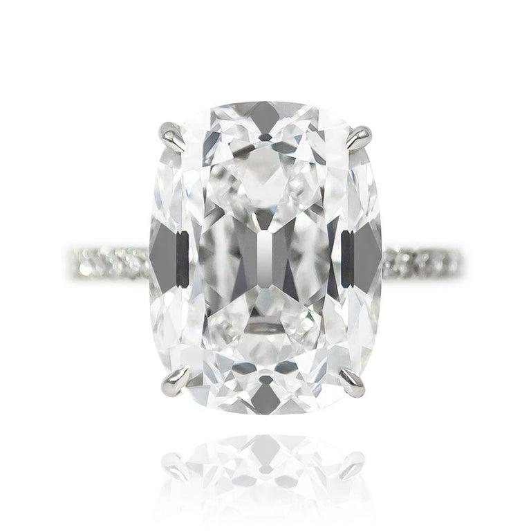 Contemporary J. Birnbach GIA Certified 10.01 Carat Cushion Cut E VS2 Diamond Ring For Sale