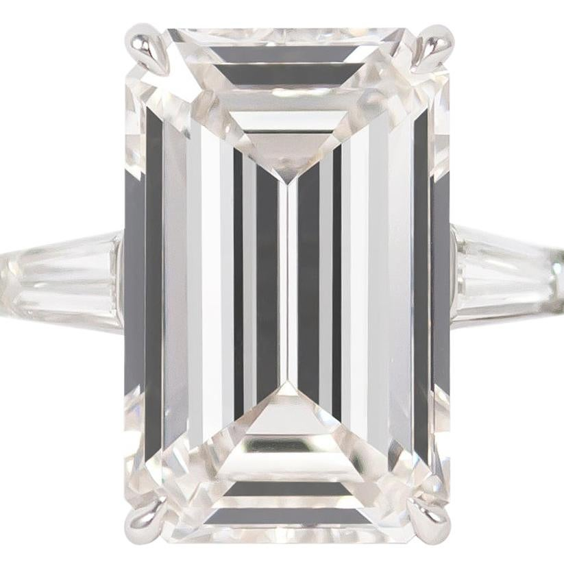 J. Birnbach GIA Certified 10.03 Carat J Color Emerald Cut Platinum Diamond Ring