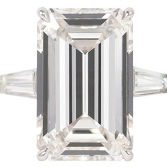 J. Birnbach GIA Certified 10.03 Carat J Color Emerald Cut Platinum Diamond Ring