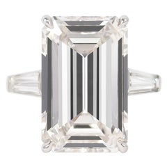 J. Birnbach GIA Certified 11.43 Carat H Flawless Emerald Cut Diamond Ring