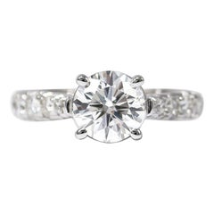 J. Birnbach GIA Certified 1.52 Carat Brilliant Round Diamond Ring