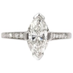 J. Birnbach GIA Certified 1.52 Carat Marquise Ring