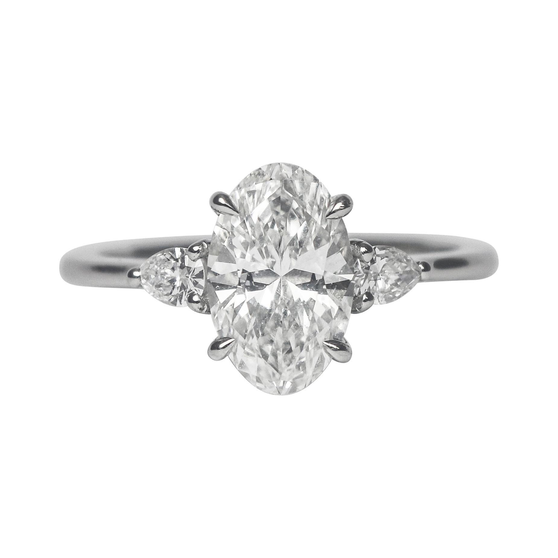 J. Birnbach Three-Stone Rings