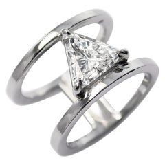 J. Birnbach GIA Certified 1.68 Carat Modified Triangular Brilliant Ring