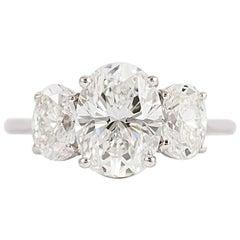 J. Birnbach GIA Certified 2.06 Carat Oval Diamond Ring
