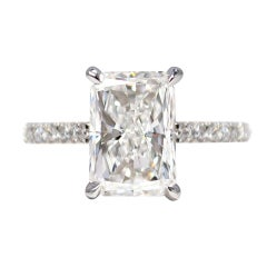 J. Birnbach GIA Certified 2.08 Carat D VS1 Radiant Cut Diamond Ring