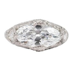 J. Birnbach GIA Certified 2.52 Antique Marquise Ring