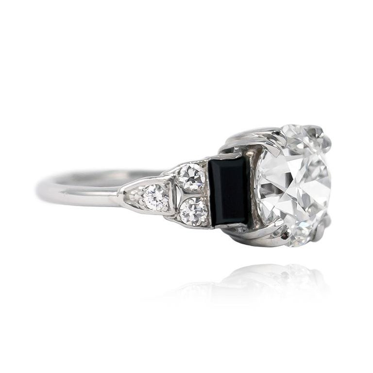 Old European Cut  GIA Certified 3.23 Carat Old Euro Antique Diamond Ring For Sale