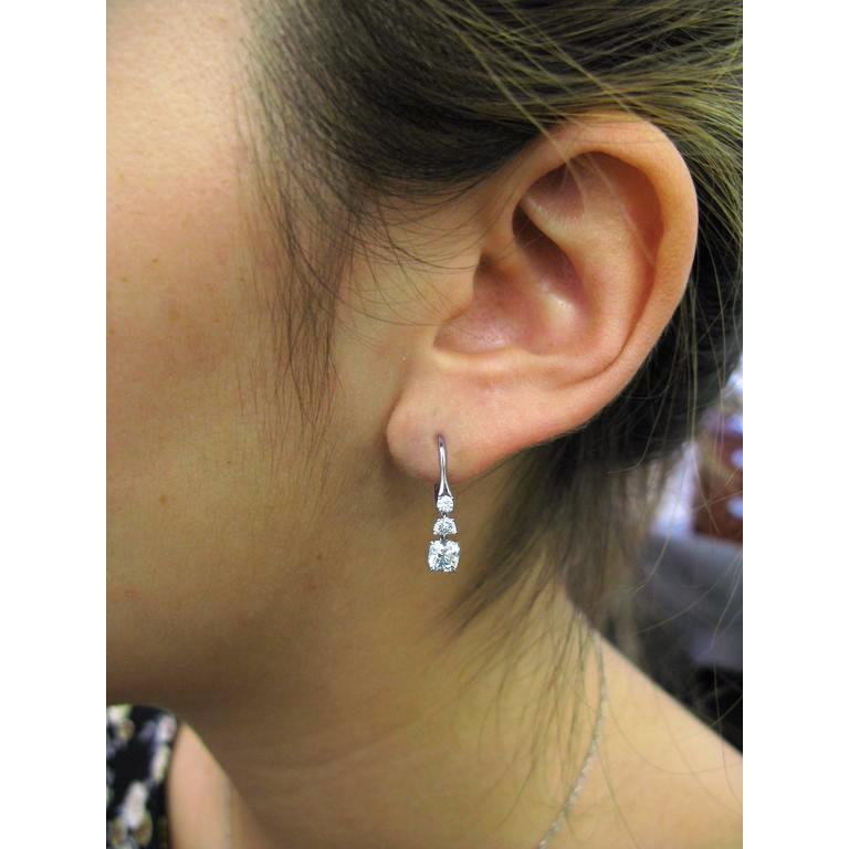 1 carat total weight diamond earrings
