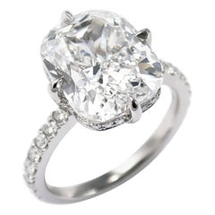 J. Birnbach GIA Certified 7.22 Carat Cushion Brilliant Diamond Ring