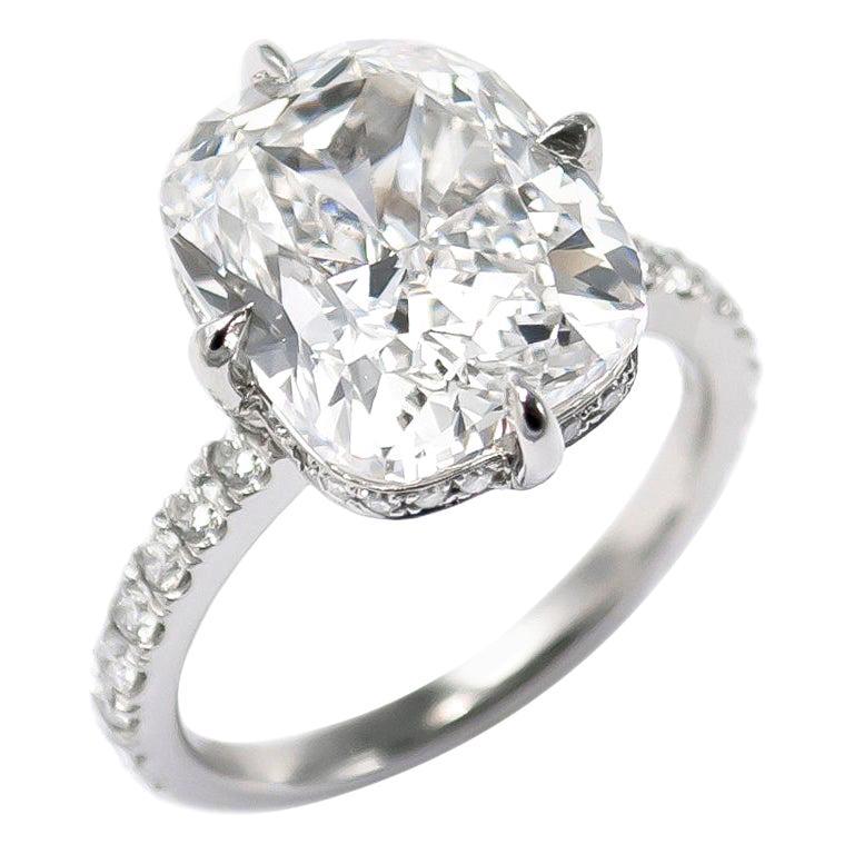 J. Birnbach GIA Certified 7.22 Carat Cushion Brilliant Diamond Ring