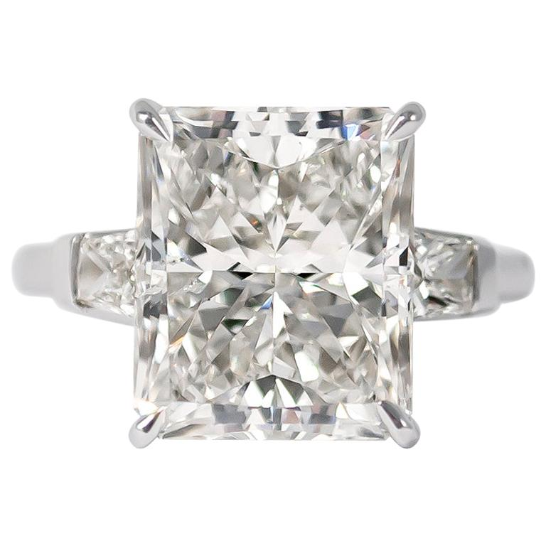 J. Birnbach GIA Certified 8.03 Carat Radiant Cut Diamond Ring