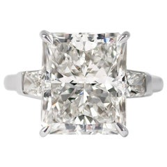 J. Birnbach GIA Certified 8.03 Carat Radiant Cut Diamond Ring